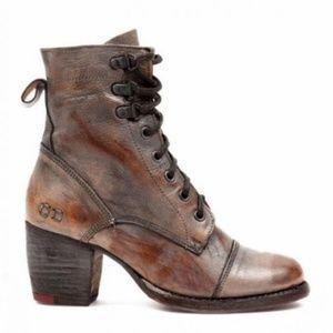 Bed Stu Taupe Teak Mason Judgement Combat Boots